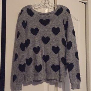 Forever 21 Heart Sweater Medium